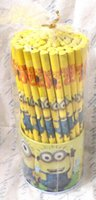 Wholesale cute cartoon Wood pencil cartoon Despicable Me the Minions pen Gift Chrismas student for school gifts