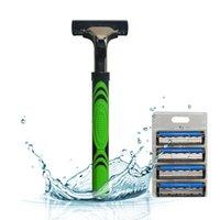 Others best shaver brand - Manual Razor Holder Sharpener Shaving Blades For Men Brand Safety Shaver Best Razor Blades Set KL