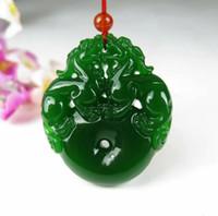 jade - Xinjiang Hetian jade pendant double brave Pi Yao new pit jasper pendant peace buckle