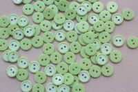 Wholesale 500 mm Candy Green Color Round Tiny Button holes