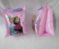 inflatable cartoon - Frozen swim Arm bands Inflatable Arm Sleeves Cartoon Princess Elsa Anna children s inflatable floating ring frozen swim ring