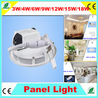 No 110-240V 2835 2PCS 3W 4W 6W 9W 12W 15W 18W led Panel light round indoor Balcony lavatory ceiling recessed spot lamp led kitchen light external LED driver