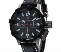 Precio de Gifts-Los hombres ocasionales del cuarzo de la manera al por mayor V6 miran el reloj especial del vestido del reloj del silicón de Dropship del reloj del deporte del dial del reloj del reloj Los REGALOS DE LA NAVIDAD