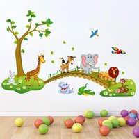 animal house wallpaper - Forest Animal Cartoon kindergarten Removable Wall Stickers For Kids Rooms Home Decor DIY Wallpaper Art Decals House Decoration