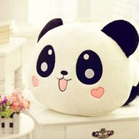 Wholesale 1 x cm quot Plush Stuffed Toy Smile Panda Cushion Children Pillow Promotion Gifts H and Pad