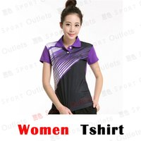 Wholesale Men Table Tennis Polo Shirts Beautiful Polyester Quick Dry Fashion Table Tennis Shirts BTF12