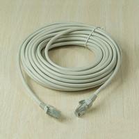 Wholesale 15M FT RJ45 CAT5 CAT5E Ethernet Internet LAN Network Cord Cable Gray New order lt no track