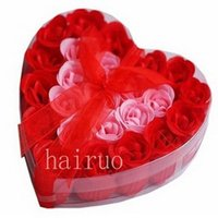 Wholesale Best Selling Natural Plant Extracts Paper Soap Rose Set Favors sets