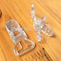 Wholesale 2016 DHL Clear Plastic Clips For Pacifier Soother Dummy Nuk MAM Bib Suspender