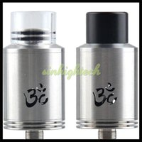 Cheap Turbo V2 RDA Tobeco Mod 22mm Turbo V2 Atomizer DIY Adjustable Airflow Vaporizer Electronic Cigarette 510 Box Mods turbo 2 Tank DHL Free