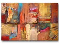 abstract paintings oncanvas - hand painted Color gold age old wall Frameless drawd Frameless draw decoration abstract oil painting oncanvas mixo