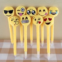 Wholesale 2016 Newest Plush Toy emoji Ballpoint children s love Creative Expression pen with cartoon plush toys kids Good Gift E441