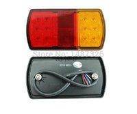 Wholesale Pair V W LED Rear Stop Tail Light For Trailer Truck Caravan Boat Car MM