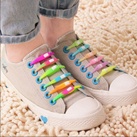 silicone shoes - Creative Fashionable New Listed Lazy Silicone Shoe Laces Shoelaces
