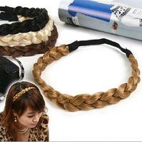 Wholesale Hair Accessories Elasticity Serratula Weave Wig With Braids Hair Bands Headdress colors