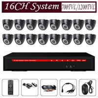 plastic lens - 16ch security cctv system dvr kit system with ch h realtime dvr hdmi plastic dome camera black case mm lens leds