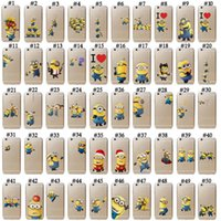 Wholesale Popular Cell Phone Cases Transparent Minions TPU PC Material Mobile Phone Covers Phone Cases for Iphone S Splus C1