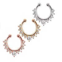 Wholesale 30 Women Fake Septum Clicker Nose Ring Non Body Piercing Jewelry