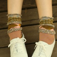 Wholesale Women s autumn socks knee high laciness socks national trend