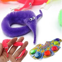 trick worms - Magic Worm Magicians Jokes Funny Toy Baralho Mr fuzzy Trick Twisty Plush Wiggle sea horse Game Christmas gift For kids children