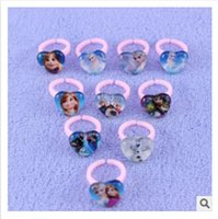 kids rings - Hot selling styles newest frozen elsa rings for kids elsa frozen Glass heart shaped ring snow queen elsa children toy ring