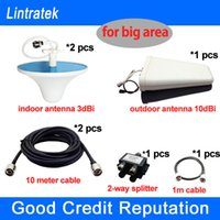 Wholesale Antennas and Cable for CDMA GSM DCS G Signal Booster Repeater Amplifier can cover big area