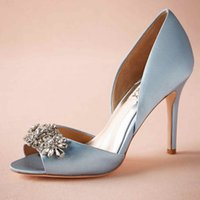 Light Blue Satin Heels – images free download