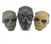 Skull Mask halloween skeleton - Tactical Military Skull Skeleton Full Face Mask Hunting Costume Party Halloween Good Quality Hot Sale New