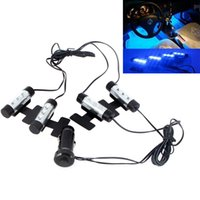 Wholesale Hot Sale Fashion x LED Blue Car Charge interior light in1 V Glow Decorative Atmosphere Lamp Drop Shipping