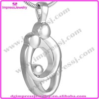 apart jewelry - IJD8278 L Stainless steel family each other hug to each other will never apart cremation jewelry pendant necklace