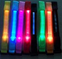 Wholesale 200pcs HOT colors Led luminous belt fiber optic luminous hand ring luminous strap led flash bracelet Cycling Safety Bracelets Lights D584
