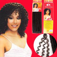 kanekalon hair - soft dread locks kinky braid NINA SOFTEX kanekalon fiber synthetic braid hair extension mixed color curly hair extension free sh