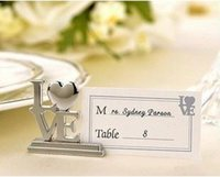 aerial clamp - 5pcs Wedding Favor wedding supplies wedding gift business card holder LOVE alloy seat clamp seat clamp wedding decoration order lt no track