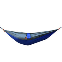 Wholesale New Travel Camping Outdoor Nylon Fabric Hammock Brand Parachute Bed for One Person G