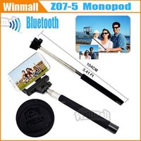 Cheap Via DHL 100pcs Bluetooth Handphone Shutter Bluetooth wireless control Monopod Z07-5 Selfie Stick with Cell Phone Clip Holder