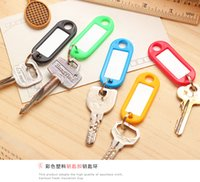 Wholesale Colored plastic key card number plate key chain hotel brand category of digital licensing listing candy color key card