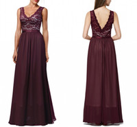 Cheap New 2016 Empire Waist Vintage Prom Dresses Long Evening Gowns Formal Burgundy Evening Dress Lace And Chiffon Aqua Bridesmaid Dresses