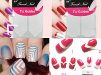 beauty nail form - pc Nails Sticker Nail Art Decals French Manicure Form Fringe Tips Guide DIY Styling Beauty Tools