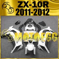 Wholesale Five Gifts Motoegg Hotsell Injection Mold Fairings For Kawasaki Ninja ZX R ZX R ZX10R Body Kit White Black K19M18