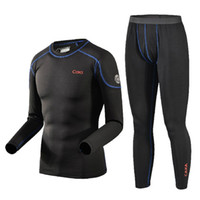 Wholesale Autumn Winter Long Johns Men Fashion Breathable Thermal Underwear Men Outdoor Sports Comfortable Thermal Underwear Suits