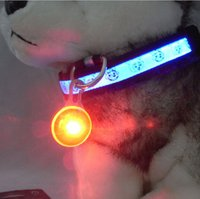 Wholesale 8 Colors LED light dog pendant Safety and Anti lost dog Tag flashing dog pendant Prevent Lost with Boxs