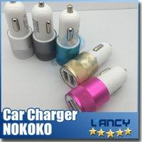 Wholesale Best Metal Dual USB Port Car Charger Universal Volt Amp for Apple iPhone iPad iPod Samsung Galaxy Motorola Droid Nokia Htc