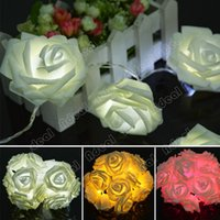 Wholesale New LED Rose Flower Fairy String Lights for Wedding Garde Party Christmas Decoration SV010684