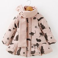 Wholesale Girls Coat Cotton Padded Jacket Autumn And Winter Animal Print Zip Cardigan Thick A Year Old Princess
