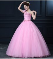 belle wedding gown - luxury single sleeve pink flowers bowknot sissi princess medieval dress Renaissance Gown princess Victori Marie Antoinette belle ball gown