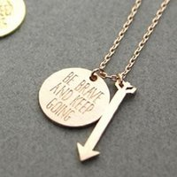 Bohemian word charms - Mix Color Gold Silver PVD Stainless Steel Whimsical Jewelry Unique Be brave and Keep Going With Word Charm Pendant Necklace For Women