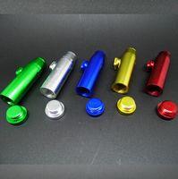 rocket - 500pcs CCA2388 Hot Sale Bullet Aluminum Metal Smoking Pipes Tools Snuff Dispenser Snorter Bullet Rocket Shaped Vaporizer Pipe Tobacco Pipes