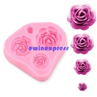 Wholesale New Size Roses Flower Silicone Cake Mould Chocolate Sugarcraft Decorating Fondant Fimo Tool Gift supplies