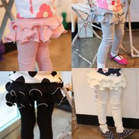 attractive clothes - Attractive High Quality Skirt Pants Floral Leggings Pure Cotton Winter Autumn Warm Girls Leggings Pants Children Clothing Girls Pants
