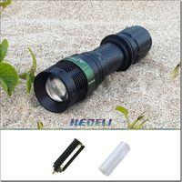 Wholesale Outdoor Lighting CREE Q5 Rotating Linternas Self Defense Light Led Lantern Defence Flashlight HX307 Rechargeable Linterna